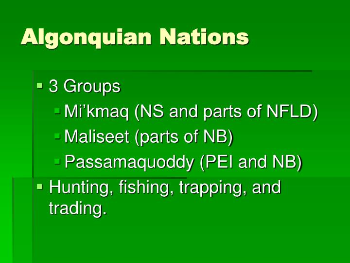 Algonquian Nations