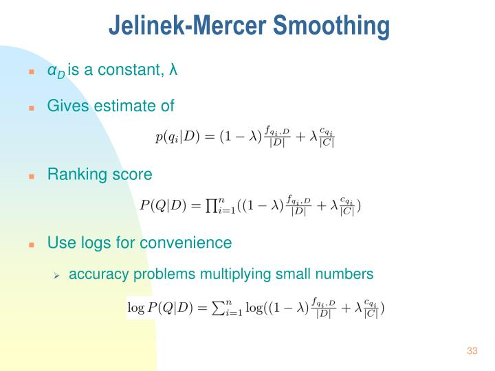 Jelinek-Mercer Smoothing