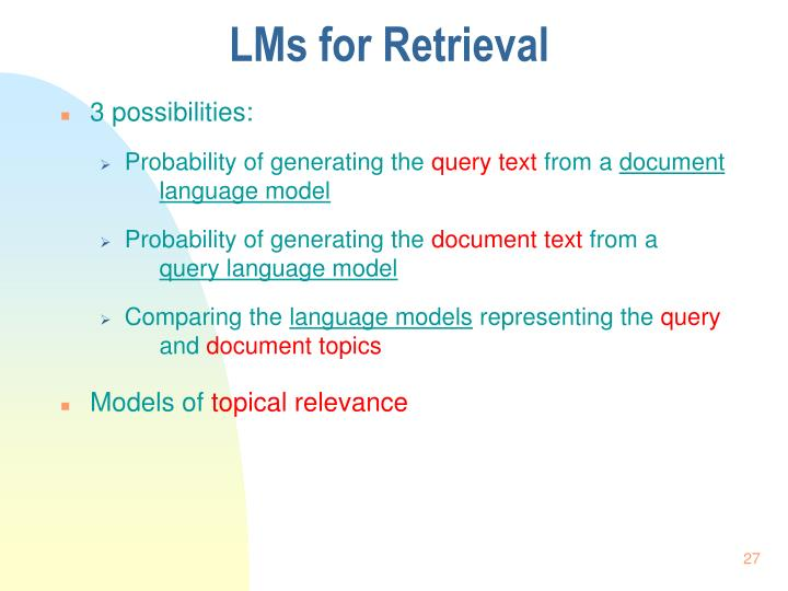 LMs for Retrieval