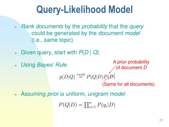 Query-Likelihood Model
