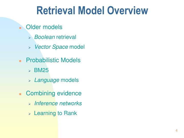 Retrieval Model Overview
