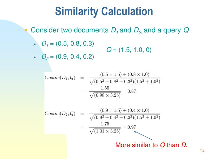Similarity Calculation
