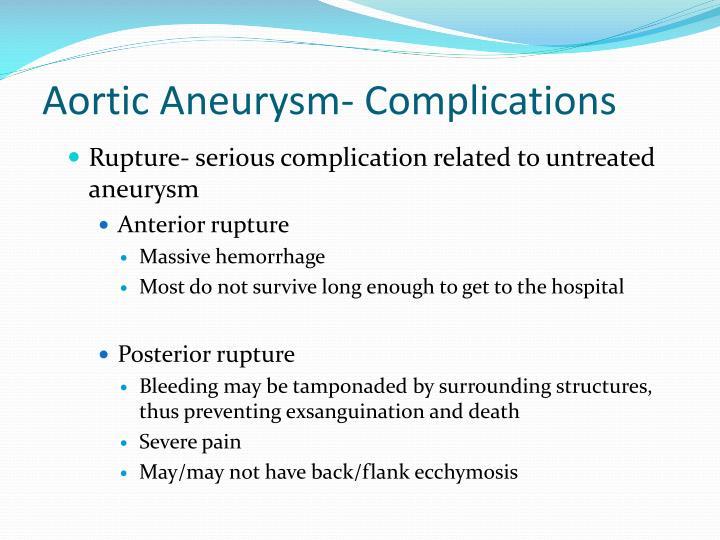 Aortic Aneurysm- Complications