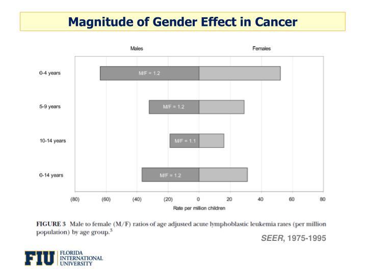 Magnitude of Gender Effect in Cancer