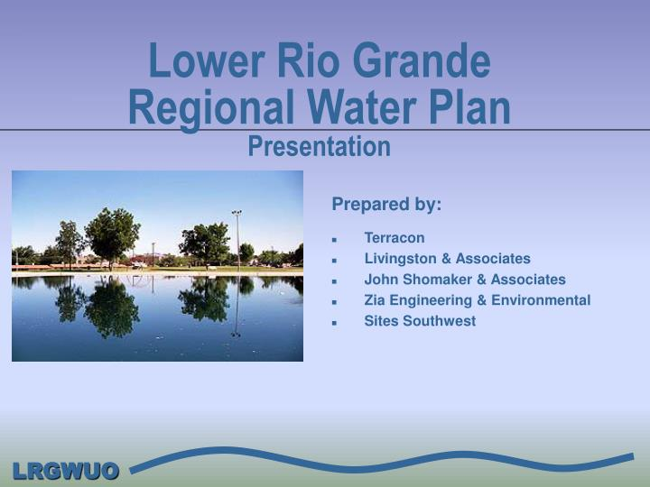 lower rio grande regional water plan presentation