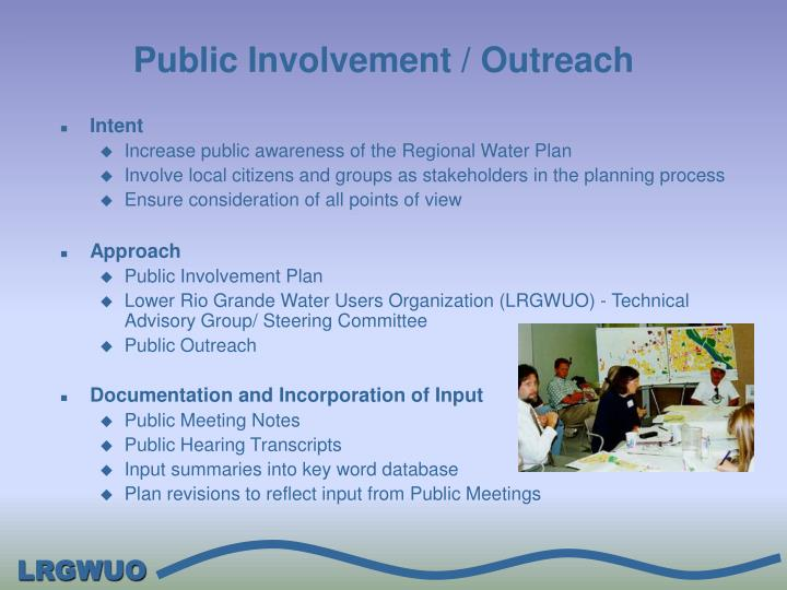 Public Involvement / Outreach