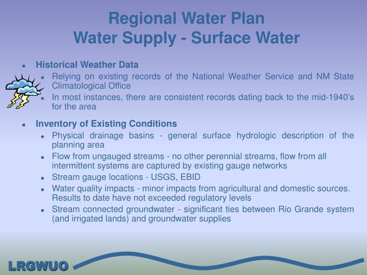 Regional Water Plan