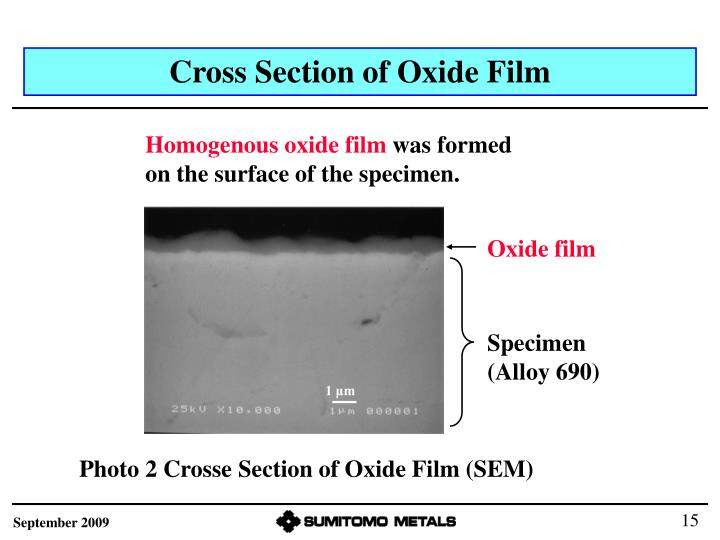 Cross Section of Oxide Film