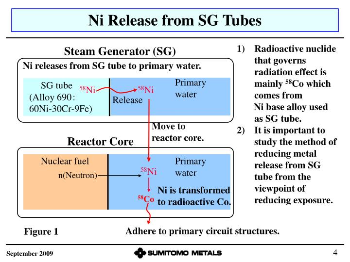Ni Release from SG Tubes