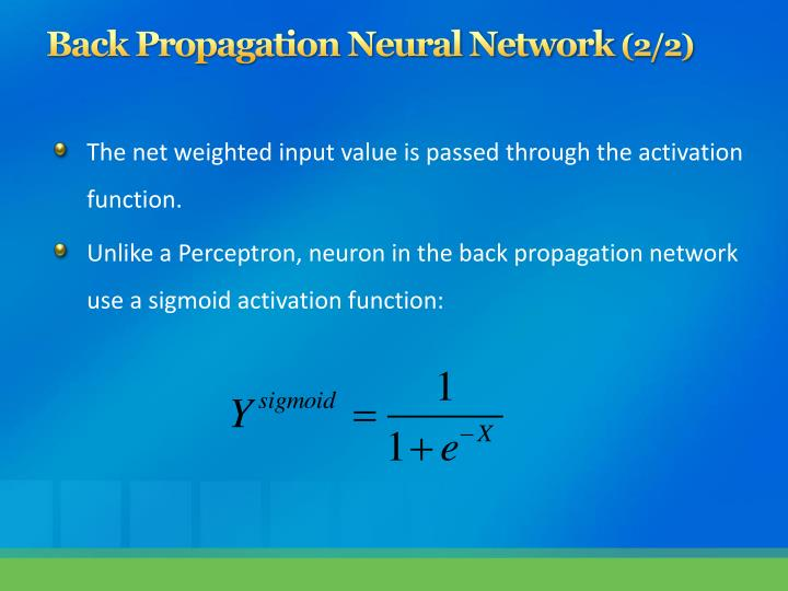 Back Propagation Neural Network