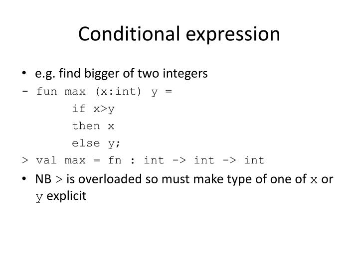 Conditional expression