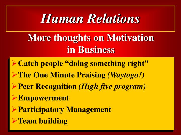 More thoughts on Motivation in Business