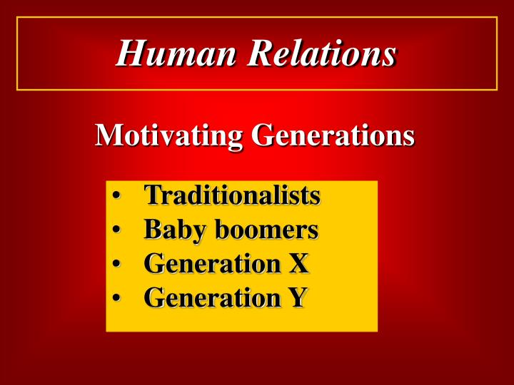 Motivating Generations