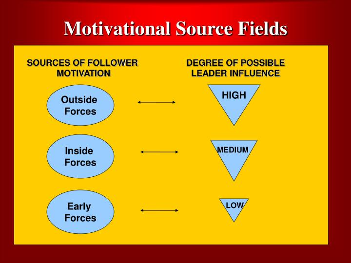 Motivational Source Fields