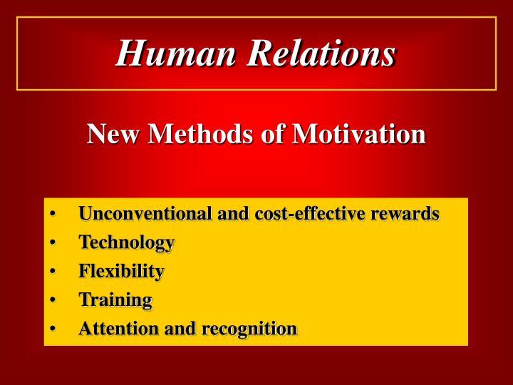 New Methods of Motivation
