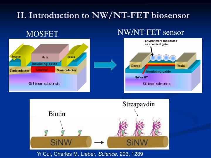 II. Introduction to NW/NT-FET biosensor