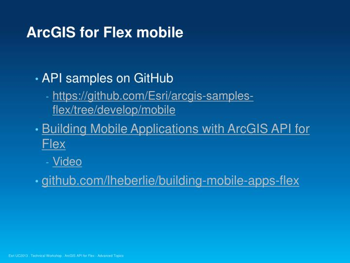 ArcGIS for Flex mobile