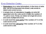 error detection codes