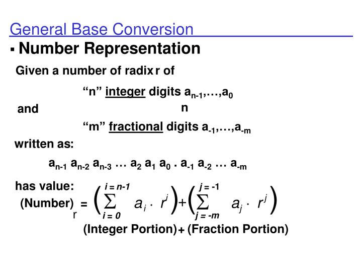 General Base Conversion