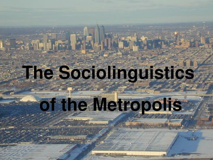 The Sociolinguistics