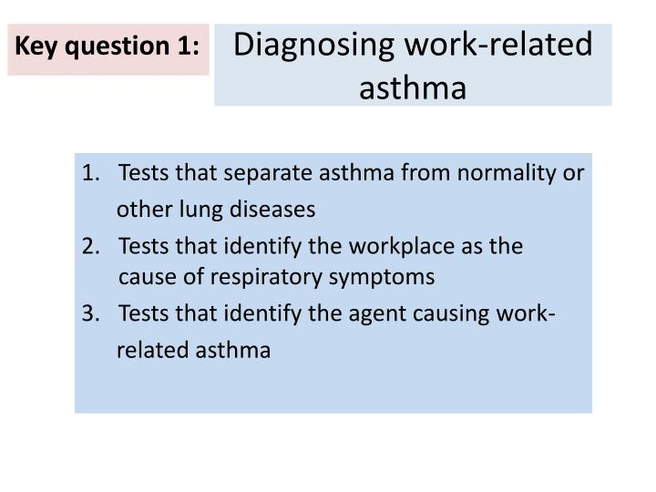 Diagnosing work-related asthma