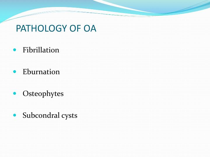 PATHOLOGY OF OA