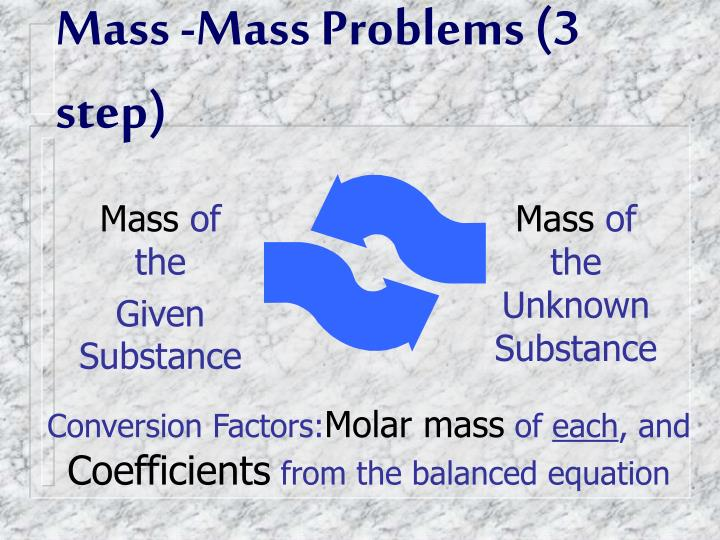 Mass -Mass Problems (3 step)