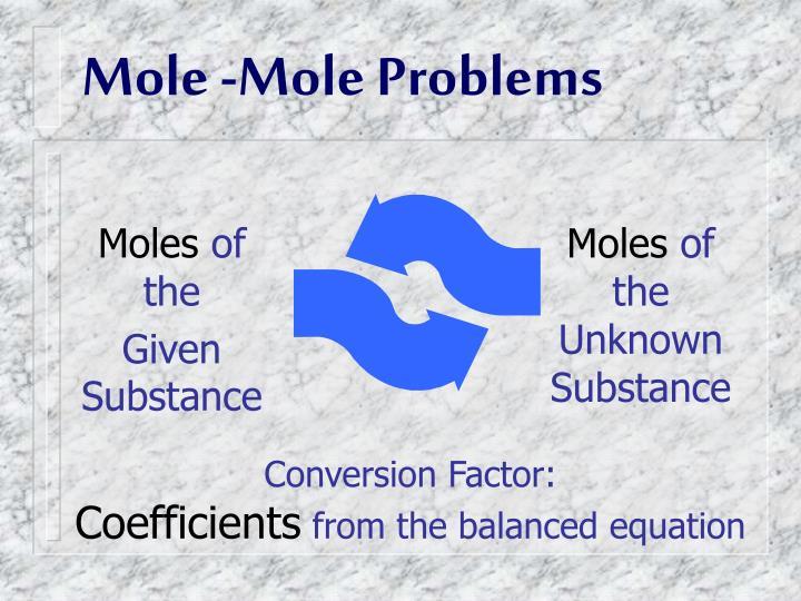 Mole -Mole Problems