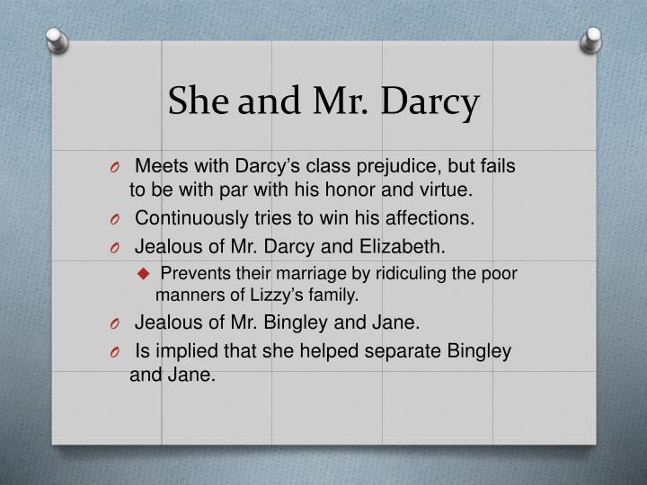 She and Mr. Darcy