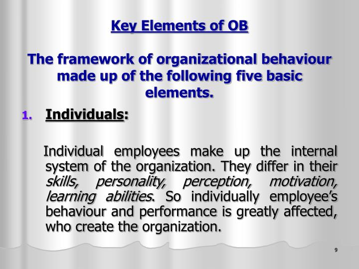 Key Elements of OB