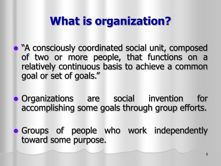 What is organization?