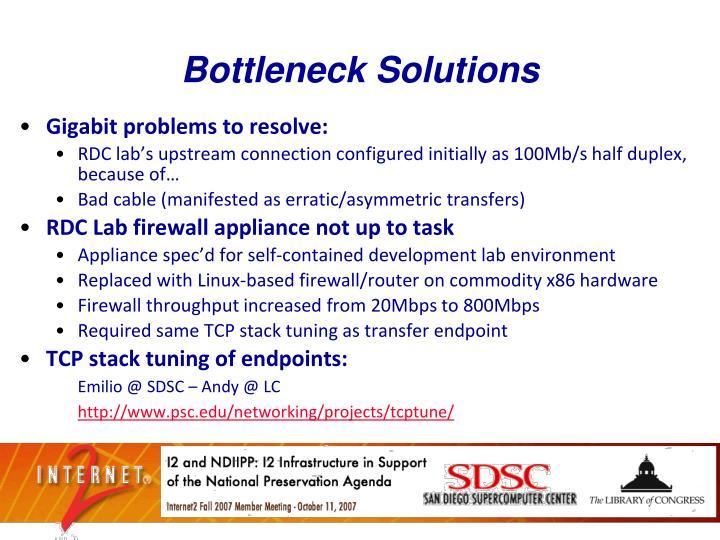 Bottleneck Solutions