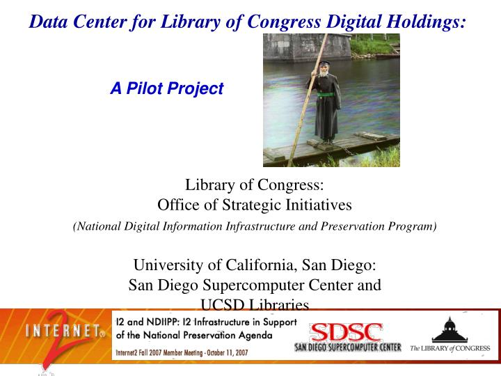 Data Center for Library of Congress Digital Holdings: