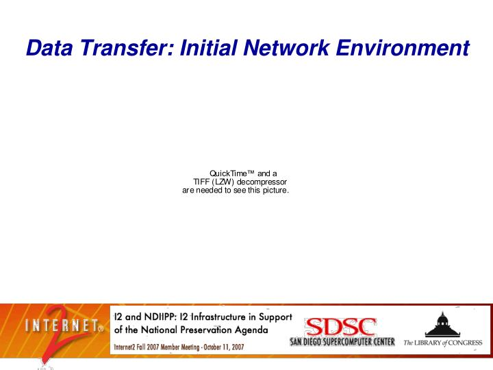 Data Transfer: Initial Network Environment