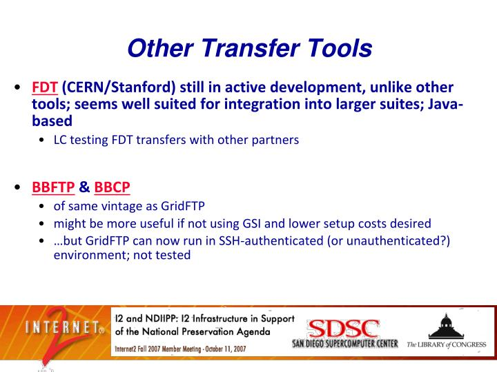 Other Transfer Tools