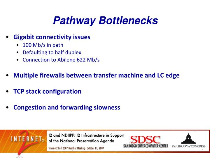 Pathway Bottlenecks