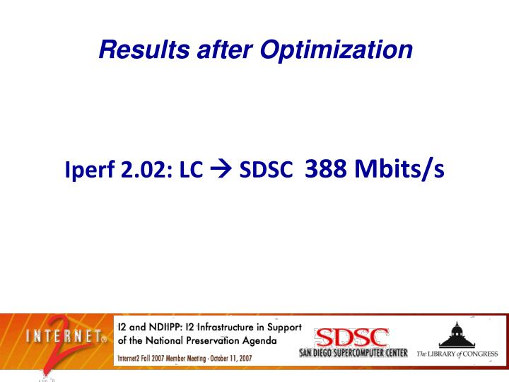 Results after Optimization