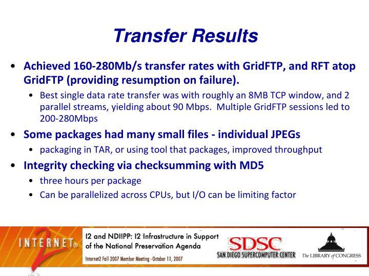 Transfer Results