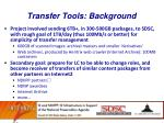 transfer tools background
