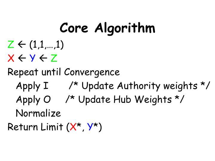 Core Algorithm