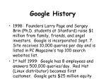 google history