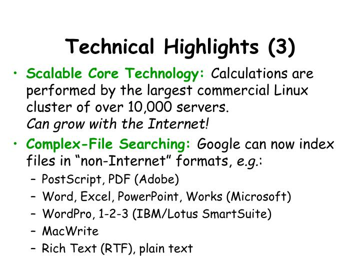 Technical Highlights (3)