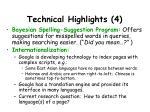 technical highlights 4