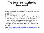 the hub and authority framework