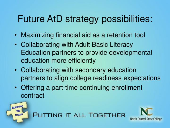 Future AtD strategy possibilities: