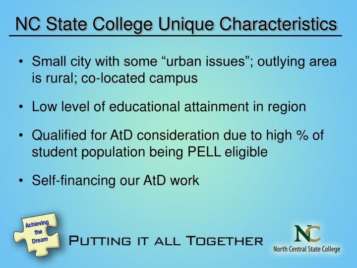 NC State College Unique Characteristics