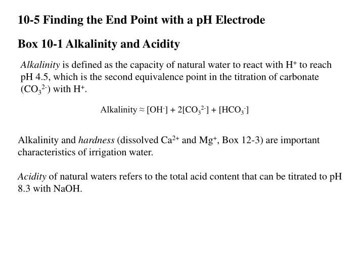 10-5 Finding the End Point with a pH Electrode