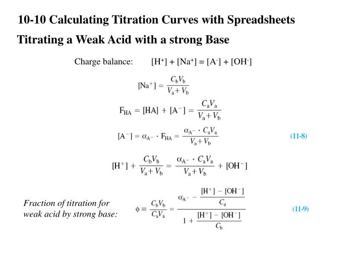 10-10 Calculating Titration Curves with Spreadsheets