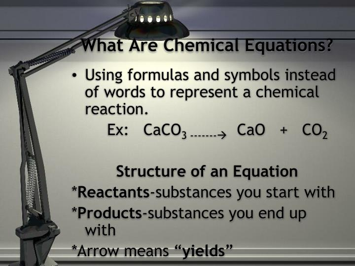 What Are Chemical Equations?