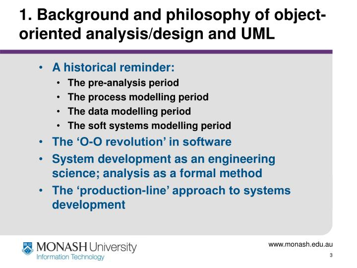 1 background and philosophy of object oriented analysis design and uml